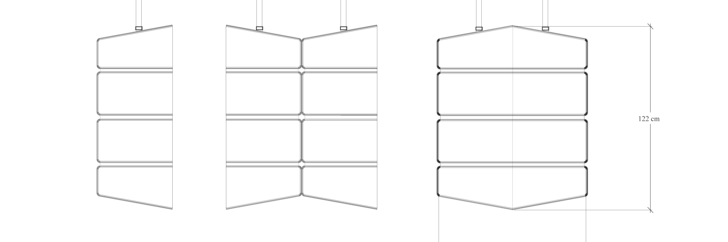 Dimensions acoustic screen
